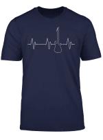 Mens Men Boys Electric Guitar Heartbeat Tee Bass Music Player T Shirt