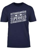 Top Rettungs Sanitater Geschenk Superheld Notfall T Shirt