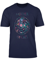 Mother Of Cats Shirt With Flower Art Cat Lovers Gift T Shirt