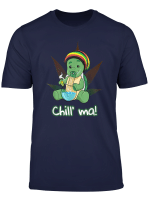 Chill Ma Bong Kiffer T Shirt Cannabis Schildkrote Rauchen