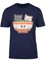 Japanese Anime Cute Cats Ramen Noodle Kawaii T Shirt