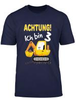 Kinder Bagger T Shirt 3 Geburtstag Jungen 3 Jahre Shirt Baustelle