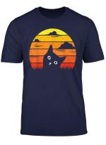 Katze Katzenbesitzerin Katzenhalterin Vintage Retro Geschenk T Shirt