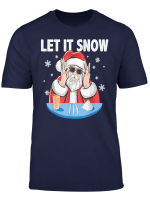 Let It Snow Cocaine Santa Adult Humor Funny Gag Gift T Shirt