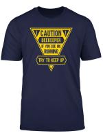 Caution Sign Keep Up With Beekeeper Funny T Shirt