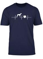 Herren Windhund Herzschlag Herren Liebe Hund Dog Manner Frequenz T Shirt