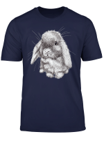 Lop Eared Bunny Rabbit Sketch T Shirt Mens Womens Childrens