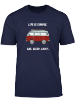 Eat Sleep Camp Van Bulli Camping Camper T Shirt
