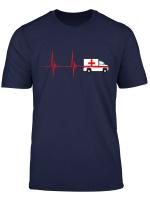 Rettungswagen Herzschlag Ekg Puls Krankenwagen Fahrer Retter T Shirt