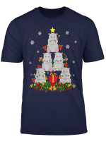 Hippo Christmas Tree Cute Hippopotamus Christmas Light Gifts T Shirt
