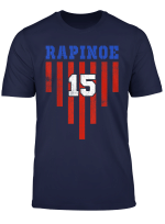 Women Usa Lovers 15 Soccer Rapinoes T Shirt