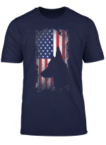 German Shepherd American Flag Shirt Usa Patriotic Dog Gift