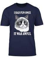 Grumpy Cat Had Fun Once Was Awful Big Face T Shirt