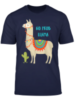 No Probllama T Shirt Llama T Shirt Kids Men Women