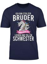 Herren Ich Bin Stolzer Bruder Einer Wundervollen Schwester T Shirt