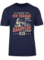Eisenbahn Zug Tshirt Schnarchen Dampflok Lokomotive Geschenk