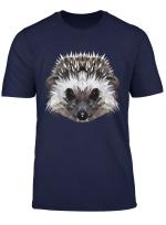 Igel Niedliches Stacheltier Hedgehog Im Polygonsty T Shirt