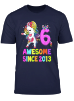6 Years Old 6Th Birthday Unicorn Floss Shirt Girl Gift Party T Shirt
