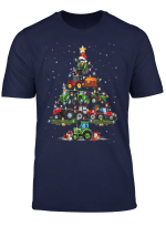Funny Tractor Tree Christmas Gift Farmer For Holiday T Shirt