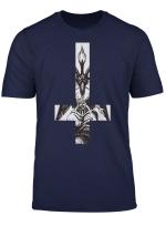Baphomet Satan Okkult Schwarze Magie Umgedrehtes Kreuz Hail T Shirt
