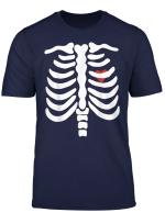 Halloween Skelett Rippen Kostum T Shirt