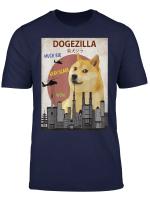 Dogezilla T Shirt Funny Doge Meme Shiba Inu Hund Shirt