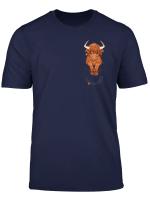 Pocket Cute Scottish Highland Cow T Shirt