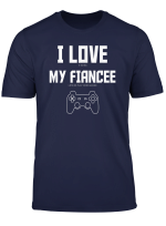 Mens I Love My Fiancee Video Games Valentines Day T Shirt