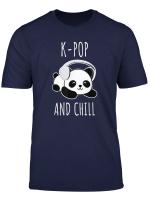 South Korea Inspired K Pop And Chill Panda Music T Shirt