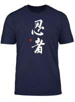 Ninja Kanji T Shirt Mit Original Japan Ninja Kalligrafie