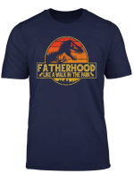 Fatherhood Like A Walk In The Park T Shirt Dad Retro Sunset T Shirt