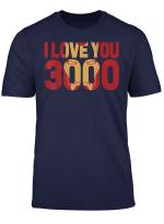 Marvel Avengers Endgame Iron Man I Love You 3000 Text Fill T Shirt