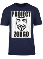 Anonymous Mask Project Zorgo Gamer Hacker Protest T Shirt
