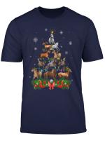 Horse Christmas Tree Lights Funny Horse Xmas Gift T Shirt