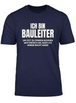 Herren Bauleiter T Shirt Lustiger Spruch
