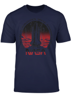 Nasa Initiate Sequence Red And Black Faded Graphic T Shirt