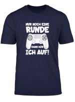 Nur Noch Eine Runde Dann Hor Ich Auf Gamer Kind Junge Spruch T Shirt