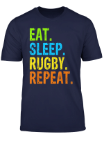 Eat Sleep Rugby Repeat Sport Gift T Shirt