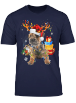 Border Terrier Christmas Dog Reindeer Funny Xmas Gift T Shirt