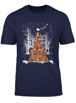 Irish Terrier Christmas Tree Dog Lovers Funny Gifts T Shirt