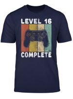 16 Geburtstag Jungen Shirt Gamer Tshirt Level 16 Complete T Shirt