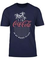 Coca Cola Is My Happy Place Beach Line Art Logo T Shirt