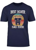 Mens Vintage Best Boxer Dog Dad Father Papa Ever Retro Dog Dad T Shirt