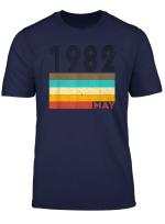 37Th Birthday Gift Retro Born In May Of 1982 T Shirt