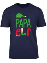 Mens Funny Papa Elf Family Matching Costume Christmas Santa T Shirt