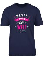 Damen Beste Oma Der Welt Tshirt Als Oma Geschenk