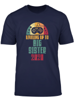 Leveling Up To Big Sister 2020 Retro Pregnancy Gamer Gift T Shirt