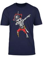Dabbing Skeleton Pirate T Shirt Halloween Kids Jolly Roger