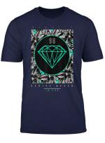 Venice Beach Diamond Color Floral Print Graphic T Shirt