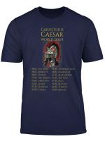 Ancient Roman History Spqr Eagle Julius Caesar World Tour T Shirt